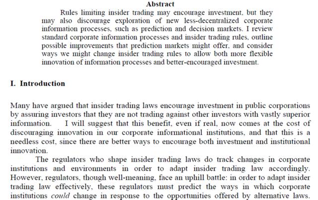 """Insider trading and prediction market"" Robin Hanson"