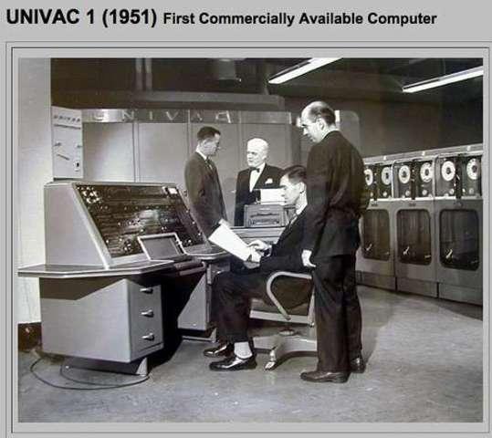 SE UTILIZAN UNIVAC Y IAS MACHINES