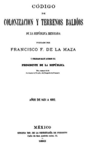LEY DE COLONIZACION
