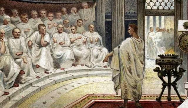 Romulo crea el senado
