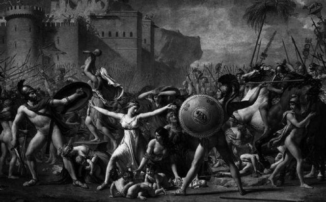 Tulio Hostilio, derrota la cuidad Alba Longa.