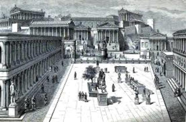 Los cuidadanos romanos se reunian en un lugar llamao comitium para tomar decisiones de interes social.