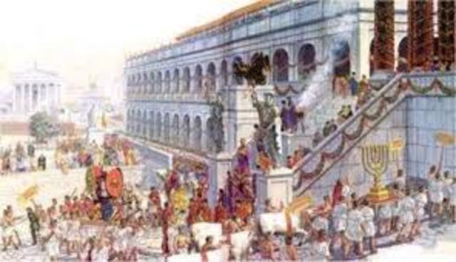 Comienzo de la era imperial con César Augusto en el año 27 a.C. como primer emperador