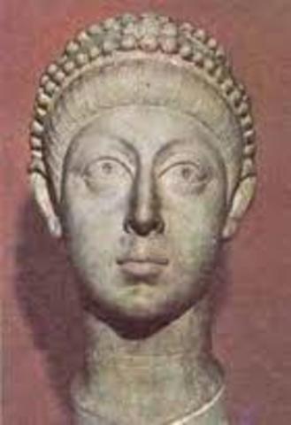 Arcadio hijo de Teodosio, emperador del imperio de oreinte.