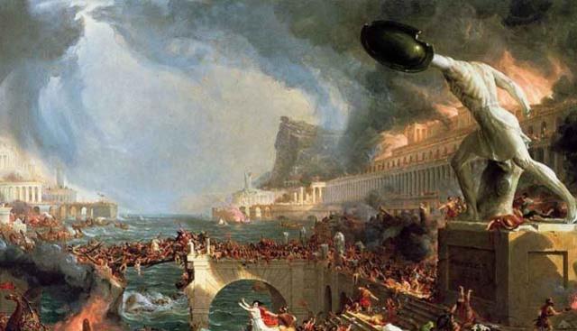 En el año 976 cae el imperio occidental romano, cuando Odoacro jefe de una tribu barbara, invadio y se corono rey venciendo a Rómulo Augústulo