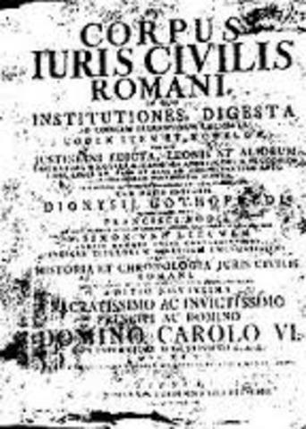 La obra concluyo en un año, recibió el nombre de código Justiniano y se publicó en febrero de 529.