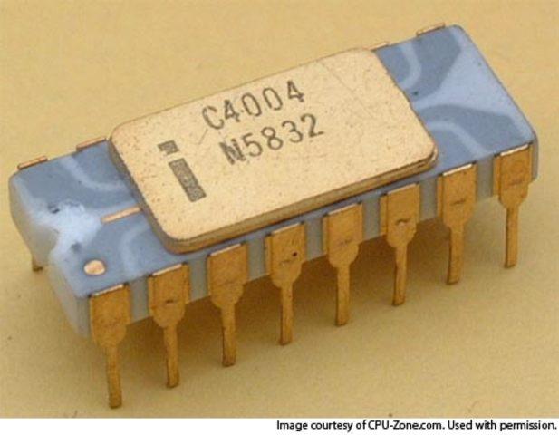 Se crea el chip 4004