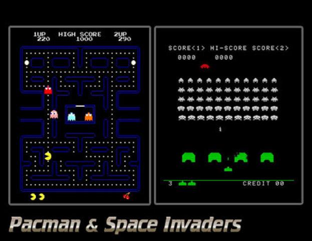 Pac Man y Space Invaders