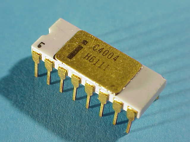 Intel crea el primer microprosecador o chip de 4 bits