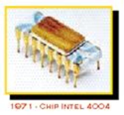 La Corporación Intel crea el primer chip microprocesador