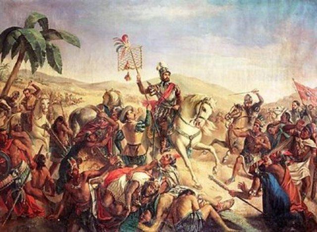 Llegan los españoles a México