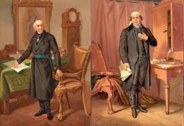 Miguel Hidalgo y Costilla y José María Morelos y Pavón, emitieron diversos decretos
