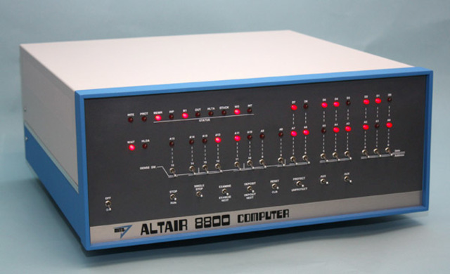 La primera computadora personal comercial, Altair 8800