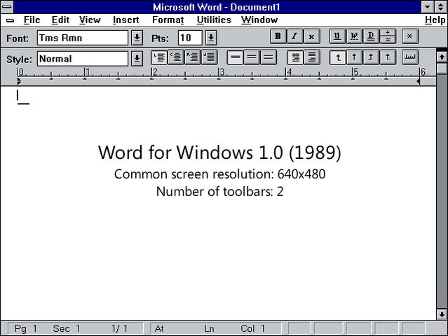 microsoft presenta la version 1.0 del procesador de textos word
