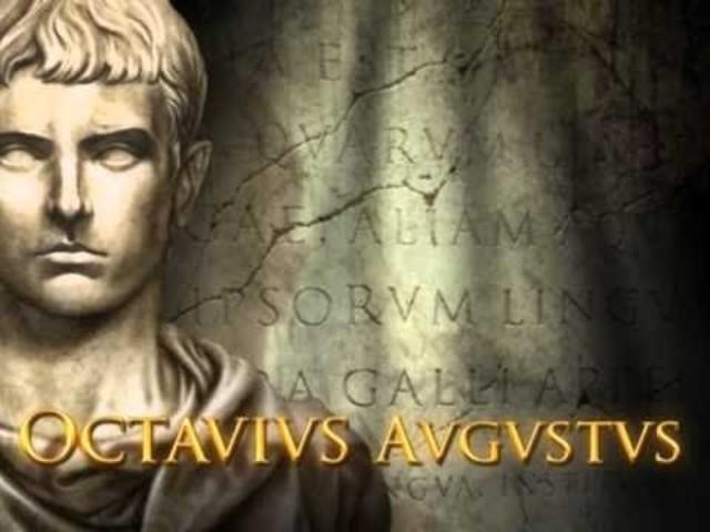 (27 a. C)  Octavio domina solo todo el orbe romano. Fin de la República Romana.