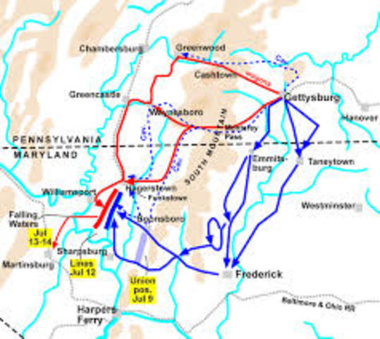 The Gettysburg campaign continues