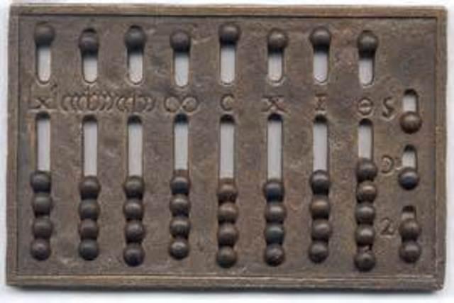 El ábaco 1300 a.c