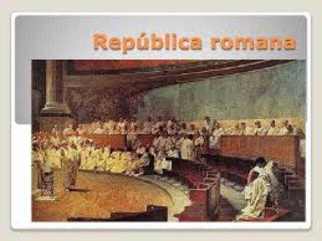 510 a.C Inicio de la republica