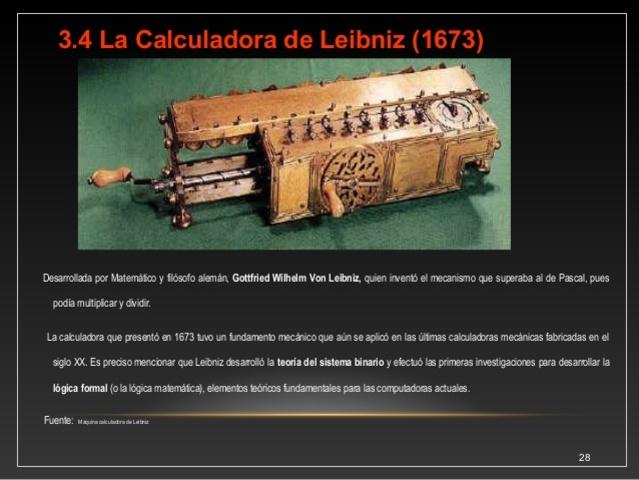 Invento de la primera calculadora