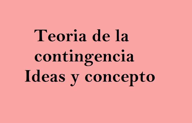 Teoria de la contingencia- ideas y conceptos