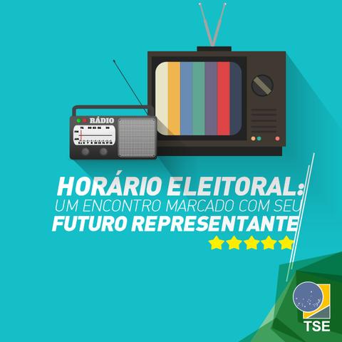 Início da propaganda eleitoral no rádio e na TV