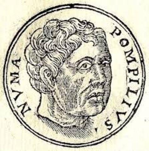 Numa  Pompilio, segundo rey en Roma año: 714 a.c.