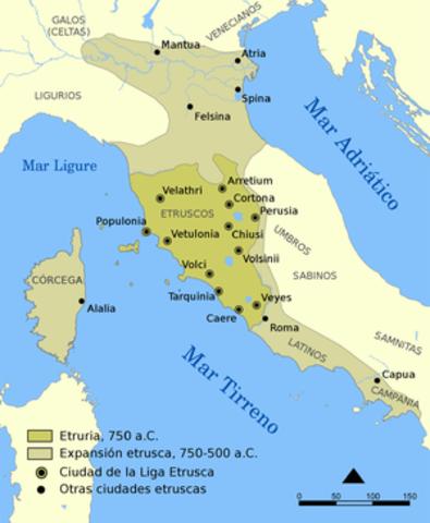 474 a. C.  Los griegos derrotan a los etruscos en Cumas.