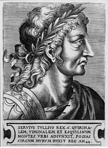 578 a.c. 6º Rey de Roma fue Servio Tulio