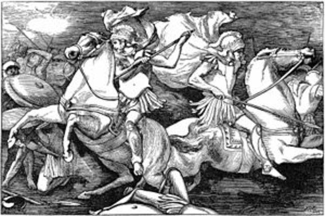 496 a. C.  Batalla del Lago Regilo.