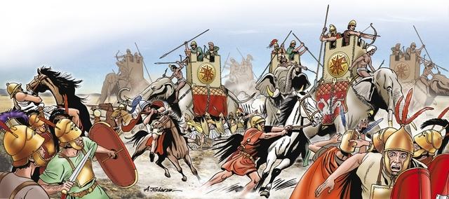 390 a.c. Los galos derrotan a los romanos en el río Allia