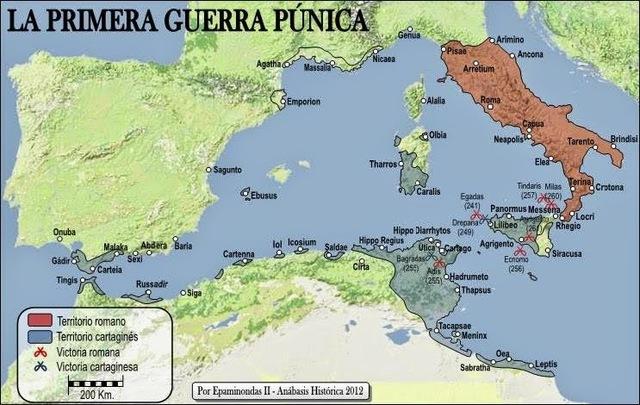 264 a.c. Comienza la Primera Guerra Punica