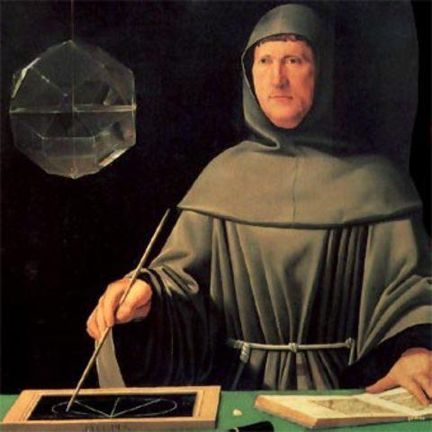 Nace el más grande autor de su época, Fray Lucas de Paciolo