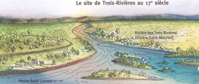 Second permanent settlement of New France: Trois-Rivières