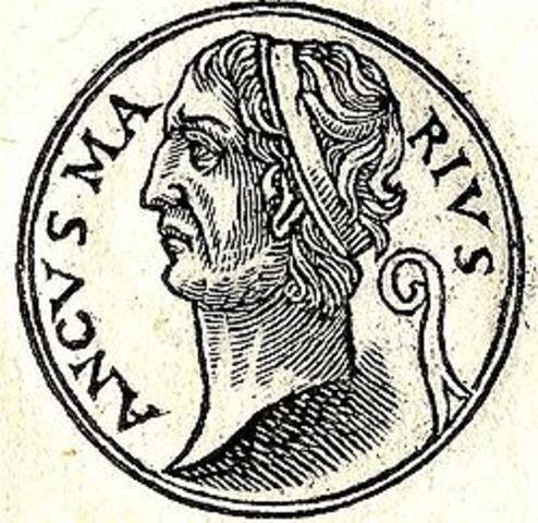 Anco Marcio cuarto rey, año: 640a.c.