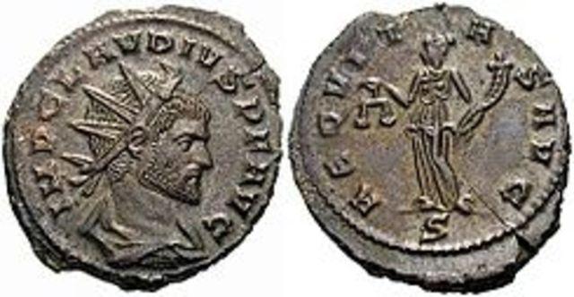 Claudio II el Gótico, Emperador de Roma.