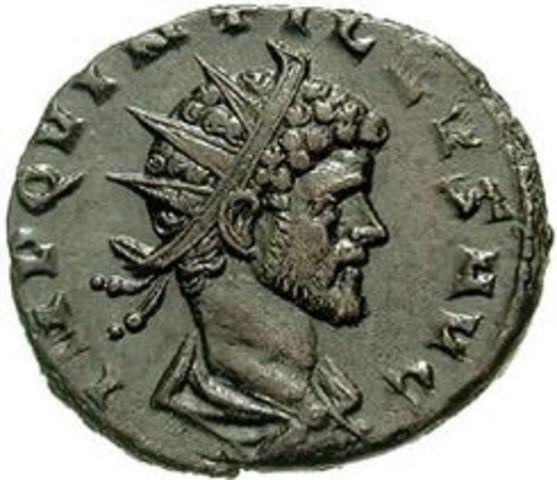 Quintilo  emperador de Roma