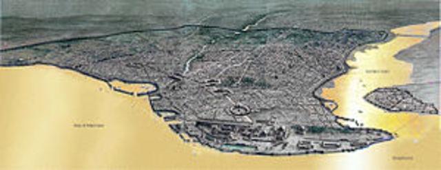 Constantino funda la ciudad de Constantinopla (Constantinópolis)