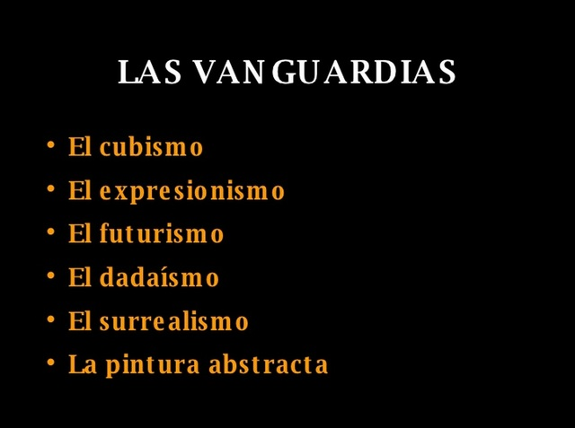 LAS VANGUARDIAS ARTISTÍCAS DEL SIGLO XX