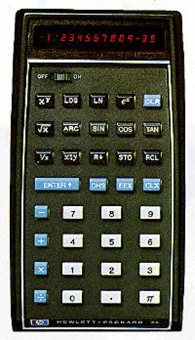 The First Scientific Calculator, HP-35