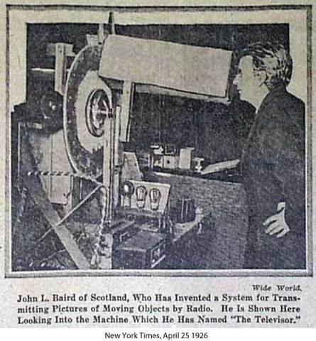 first demonstration of television