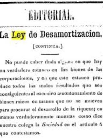 ley de desamortizacion