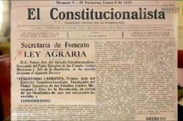 ley agraria de 1915
