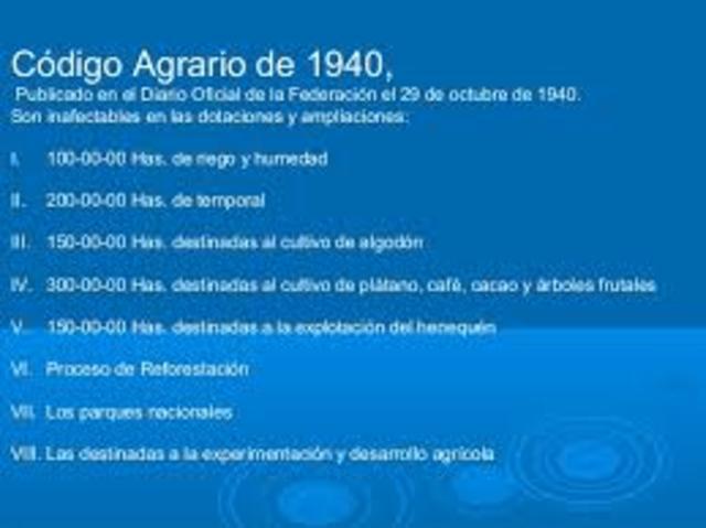 Código de 1940-1942