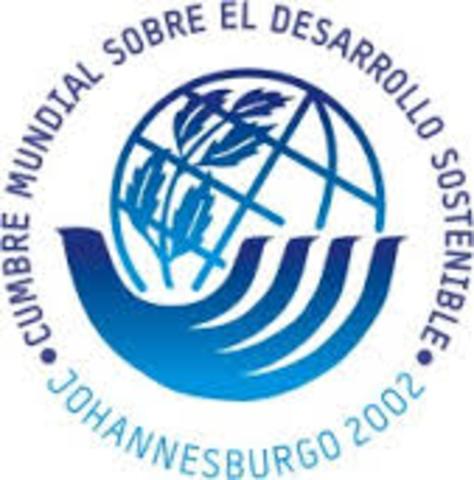 Cumbre Mundial sobre desarrollo sostenible en Johannesburgo, Sudáfrica
