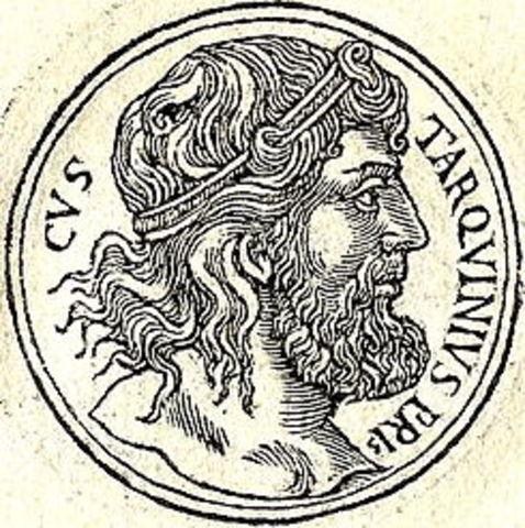 Inicio del Gob. de Tarquinio Prisco en 616 a.C.