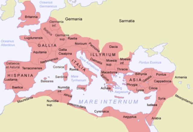 Segunda guerra púnica en 218 a.C.