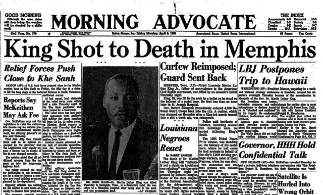 Martin Luther King Jr.'s Death