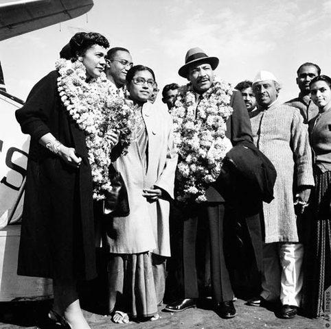 MLK visits India