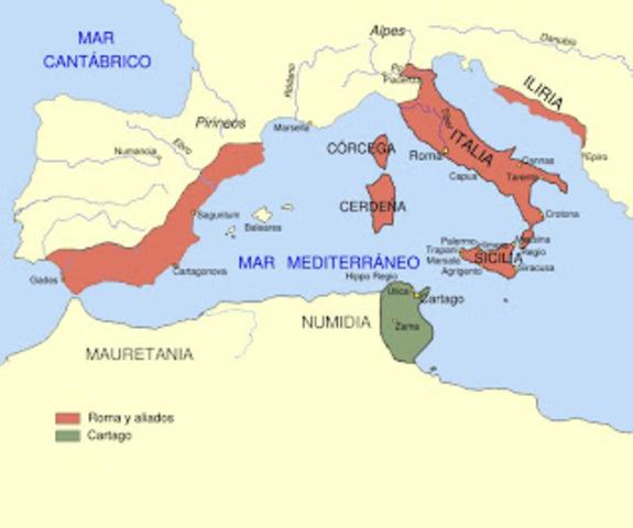 Tercer guerra púnica en 201 a.C.
