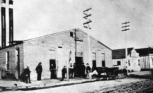 First Electric Plant Built